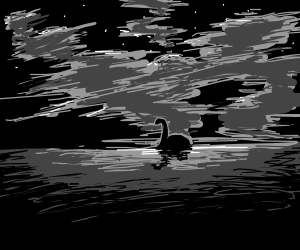 the loch ness monster swimming