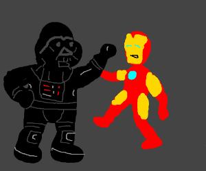 Barney Vader Slaps Iron Man