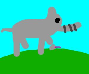 elephant kills mouse