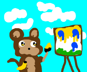 a painting monkey
