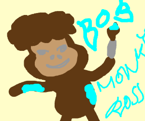 Monkey bob ross