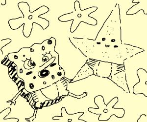 kawai baby sponge bob and patrick