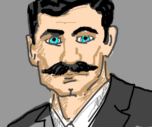 Sterling Archer with a Mustache