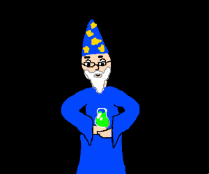 Wizard with multiple arms makes a potion