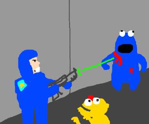 Space Marines vs Sesame Street