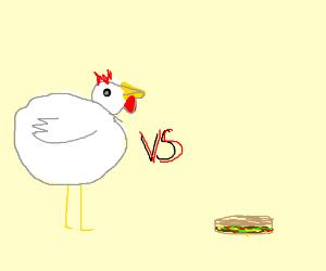 a really fat chicken vs a taco