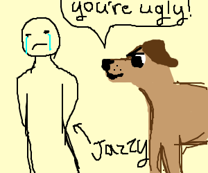 Jazzy is made fun of by dogs