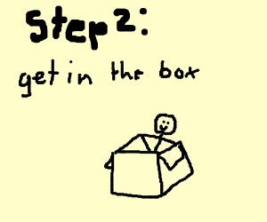 Step 2: get in the box