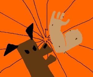 Dog vs Arm Potato
