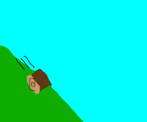 log rolling down a hill