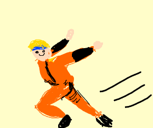 The Naruto run - Drawception