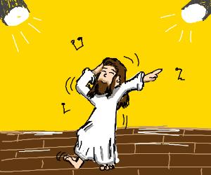 Jesus on the dance floor.