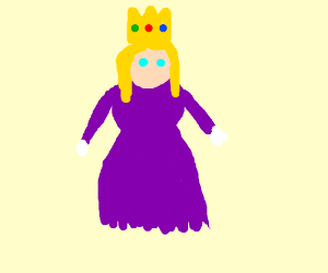 Blonde Princess wearing a purple dress