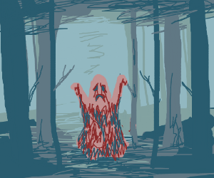 A ghost spooks you in the woods