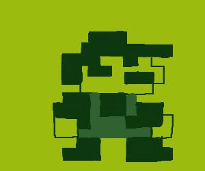 Begin a Mario game on Game Boy