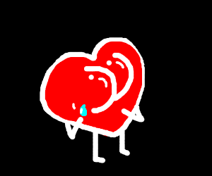 Butt heart is crying