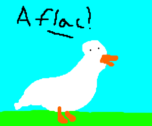 aflac duck drawing by uteruspro drawception