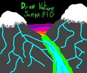 Draw a nature scene PIO