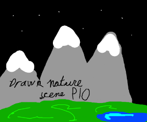 Draw nature scene PIO