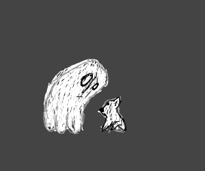 Napstablook meets Gabe the dog