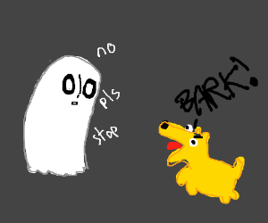 Napstablook and a canine