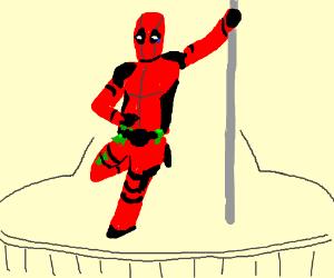 Deadpool as a stripper