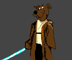 Scoobi-Wan Kanobi asks for Scooby Snacks