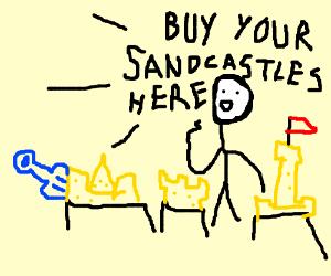 sandcastle vendors