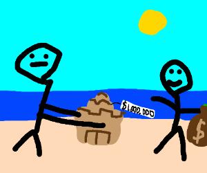 Sand castle sells for 1 million dollars