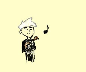 Danny Phantom plays tiny guitar.