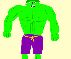 Angry green guy