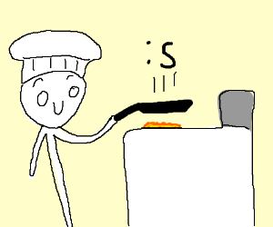 cooking s face