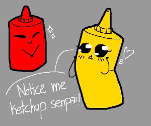 Mustard: notice me ketchup senpai