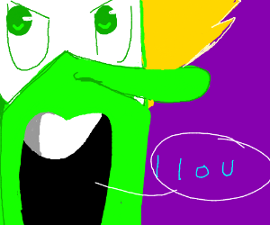 "big nosed peridot says "" l l o u """