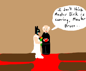 Jilted bride Batman grieves lost love Robin
