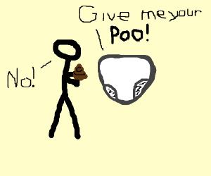 Man refuses to poo his diaper