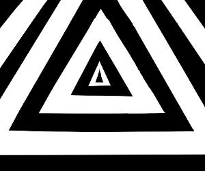 Black & White Concentric Triangles