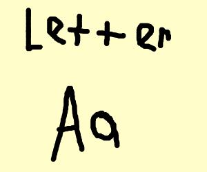 "A Scarlet Letter ""A"""