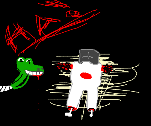 happy gator puppet kills again