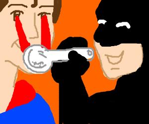 superman laser eyes heat crack pipe for batman