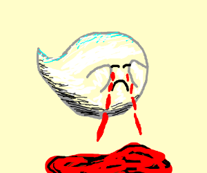 Crying Blood Boo Ghost From Mario Drawing By Applecider Drawception