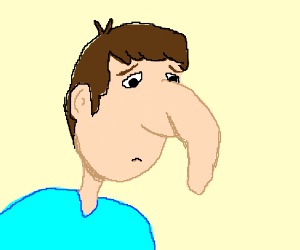 man with giant droopy nose