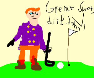 Knights playing golf