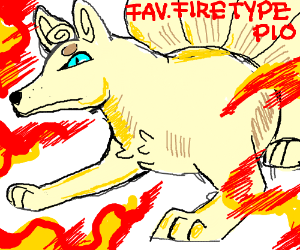Favorite fire-type P.I.O