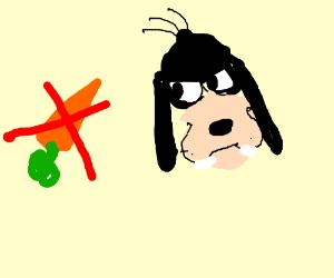 Goofy does not like carrots
