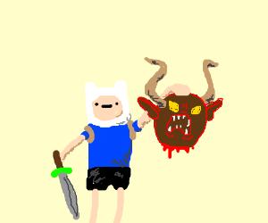 Finn's (AT) chopped demonic head.