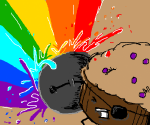 trouble muffin refuses rainbow