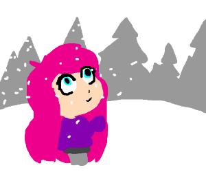 Chibi in a blizzard