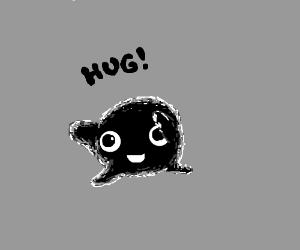 Little black creature wants a hug.
