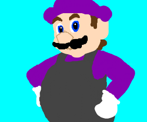Mario trying to be waluigi